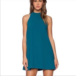 Lovers + Friends lily teal swing dress size XS